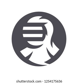 Japanese Kendo helmet silhouette sign