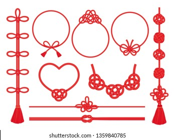 Japanese knot vector frame and line set.
