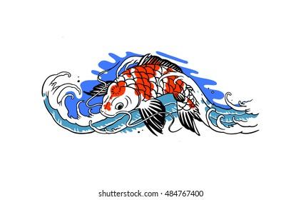 Koi Fish Artwork Japanese Images Stock Photos Vectors Shutterstock
