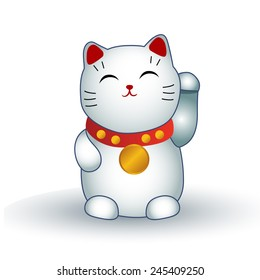 Japanese maneki neko (lucky cat)