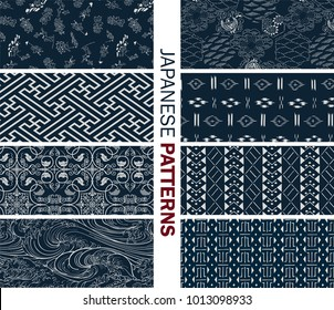 Japanese new pattern seamless vector in graphic style background for fabric,textile,Advertising work,Publication,Vector Illustration design. Asia.