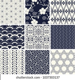 Japanese new pattern seamless vector in graphic style background for fabric,textile,Advertising work,Publication,Vector Illustration design