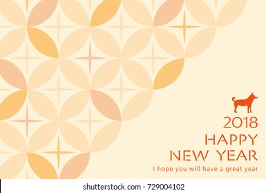 Japanese New Year's card. Japanese traditional pattern background.
