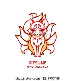 Japanese nine-tailed fox Kitsune