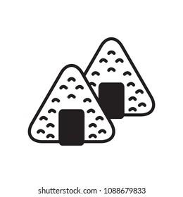 Japanese onigiri icon. Vector icon.