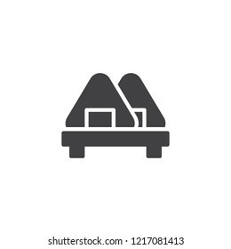 Japanese onigiri vector icon. filled flat sign for mobile concept and web design. Asian food simple solid icon. Symbol, logo illustration. Pixel perfect vector graphics