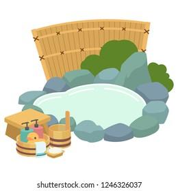 japanese an open-air bath