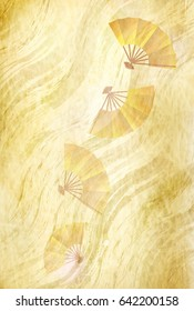 Japanese paper gold background texture
