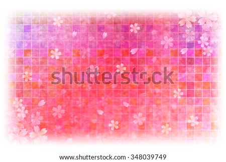 Japanese Paper Greeting Cards Cherry Background