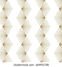 Japanese pattern background. Geometric gold vector.
