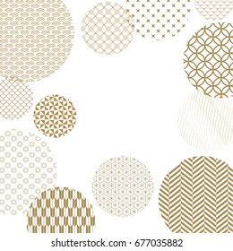 Japanese pattern background vector. Gold geometric cover design , poster, card and layout design. Abstract template design.