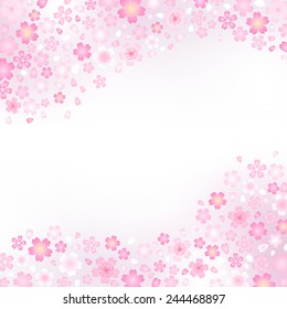 Japanese pattern of cherry blossom and spring haze