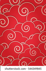 Japanese pattern design vector EPS10
