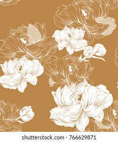 Japanese pattern seamless vector in traditional flower graphic style background for backdrop, template, cover page design , fabric, textile