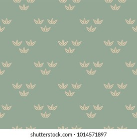Japanese pattern vector. Bamboo icon background. Nature symbols wallpaper.