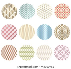 Japanese pattern vector. Colorful pastel geometric background for greeting card, poster, wallpaper, backdrop, template.