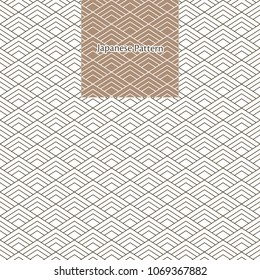 Japanese pattern vector.Line geometric background. Wave elements in vintage style.