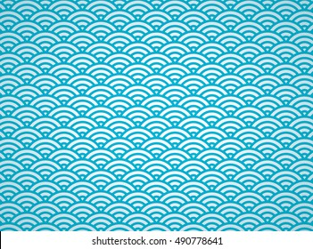 Japanese pattern. wave(colorful)