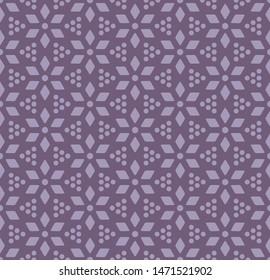 Japanese Purple Tiny Flower Seamless Pattern