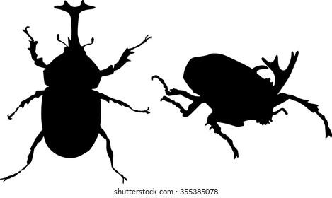 japanese rhinoceros beetle (Kabuto) Vector, T-shirt