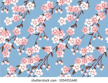 Japanese Sakura festival. New pattern seamless vector in graphic style background for fabric,textile,Advertising work,Publication,Vector Illustration design.