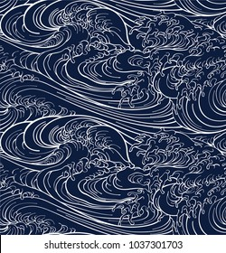 Japanese sea new pattern seamless vector in graphic style background for fabric,textile,Advertising work,Publication,Vector Illustration design