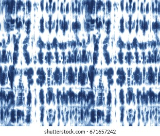 Japanese Shibori technique tie dye textile pattern in indigo blue. Editable vector seamless pattern repeat.