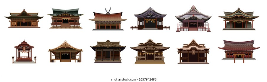 Japanese Shrine or Temple vector design.