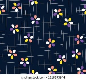 Japanese Small Cherry Blossom Seamless Pattern