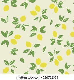 Japanese spring lemon pattern