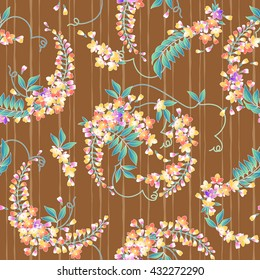 Japanese style wisteria pattern