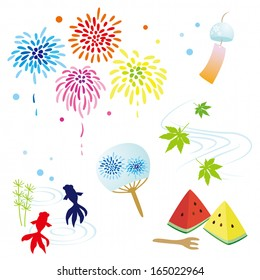 Japanese Summer Illustrations