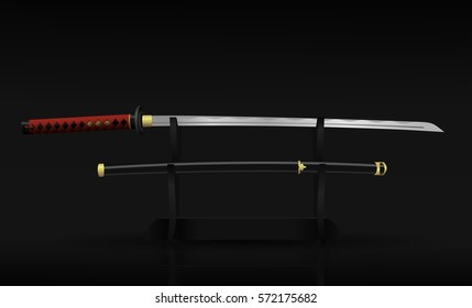 Japanese Sword Illustration