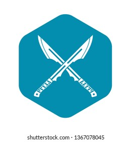 Japanese tanto daggers icon. Simple illustration of Japanese tanto daggers vector icon for web