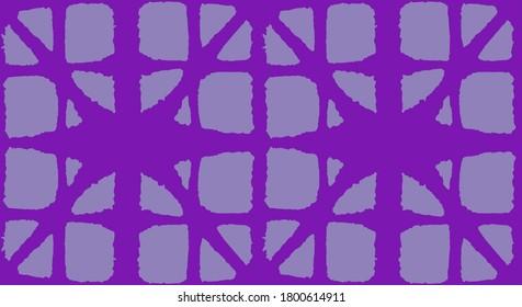 Japanese Tie Dye Seamless Pattern. Luxurious Japanese Clothes Texture. Geo Shape Curve Print Glamour Kimono Textile. Artistic Shibori Seamless Pattern. Geometric Bohemian Asian Tie Dye Pattern.