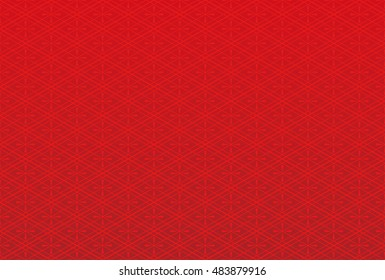 Japanese traditional background. red pattern.