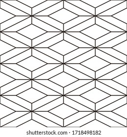 Japanese traditional pattern, rhombus line pattern