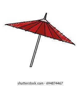 japanese umbrella isolated icon