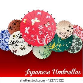 Japanese umbrella.vector