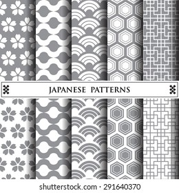 japanese vector pattern,pattern fills, web page background,surface textures