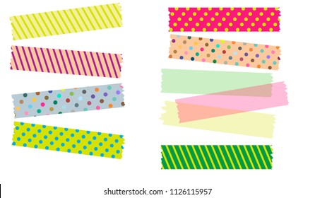 Japanese Washi Tape in Illustrator