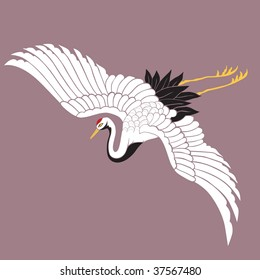 Japanese white crane