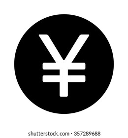 Japanese Yen or Chinese Yuan currency symbol flat vector icon for apps and websites