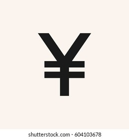 Japanese yen symbol. Vector yen sign, icon. JPY