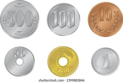 Japanese yen vector illustration material