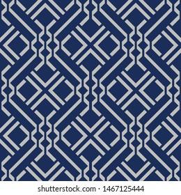 Japanese Zigzag Square Seamless Pattern
