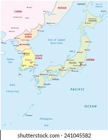 japan-korea map