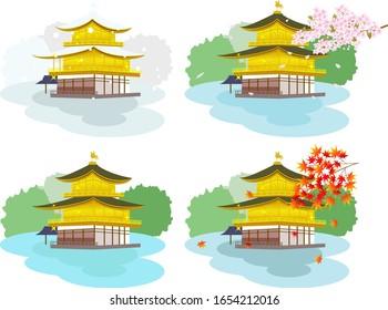 日本の世界遺産金閣寺
