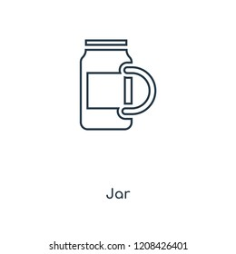 Jar concept line icon. Linear Jar concept outline symbol design. This simple element illustration can be used for web and mobile UI/UX.