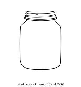 jar contour vector